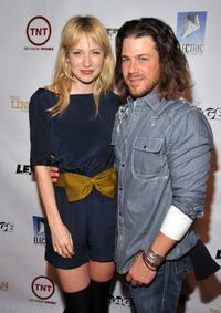 Beth Riesgraf and Christian Kane at the Wrap Party for TNT's