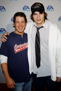 Christian Kane and Ashton Kutcher at the launching of three new