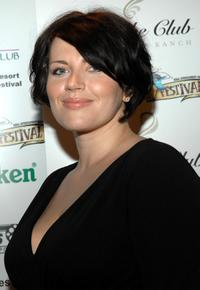 Dagmara Dominczyk at the Reel Experience during the Sarasota Film Festival.