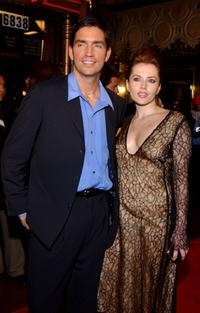Jim Caviezel and Dagmara Dominczyk at the premiere of