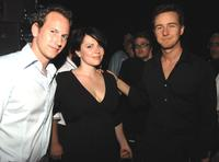 Patrick Wilson, Dagmara Dominczyk and Edward Norton at the Reel Experience during the Sarasota Film Festival.