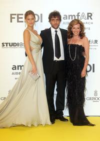 Bar Rafaeli, Adriano Giannini and Caroline Gruosi-Scheufele at the amfAR's Inaugural Cinema Against AIDS.
