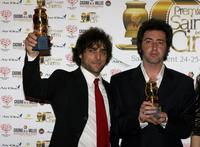 Adriano Giannini and Paolo Sorrentino at the Grolle d'Oro Italian Movie Awards.