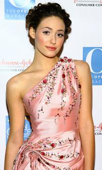 Emmy Rossum at the Skin Sense Awards presented by the Skin Cancer Foundation.