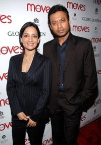Archie Panjabi and Irfan Khan at the party hosted by New York Moves Magazine for the cast of