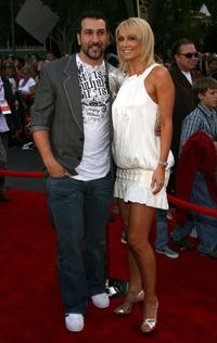 Joey Fatone and Kym Johnson at the world premiere of