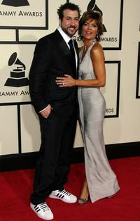Joey Fatone and Lisa Rinna at the 50th Annual Grammy Awards.