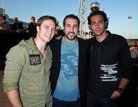 Scott Porter, Joey Fatone and Zachary Levi at the NBC All-Star Party.