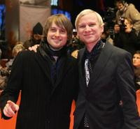 Axel Schreiber and Robert Stadlober at the awards ceremony during the 58th International Berlinale Film Festival.