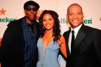 Arsenio Hall, Salli Richardson-Whitfield and Scott Sanders at the Los Angeles premiere of