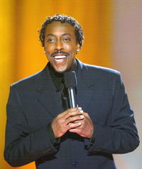Arsenio Hall at the star search grand finale of the CBS show - on stage.