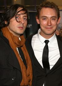 Carl Barat and JJ Feild at the world premiere of