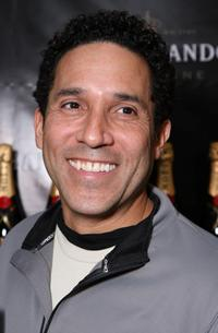 Oscar Nunez at the Moet and Chandon suite during the 2008 SAG Awards.
