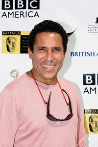 Oscar Nunez at the pre-Emmy Awards tea party.