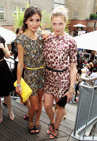 Nadine Warmuth and Franziska Weisz at the Gala Fashion Brunch during Mercedes-Benz Fashion Week Berlin Spring/Summer 2012.