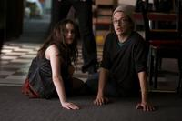 Kat Dennings and director Peter Stebbings on the set of