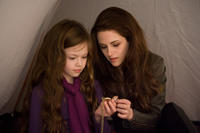 Mackenzie Foy and Kristen Stewart in