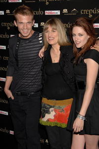 Cam Gigandet, Director Catherine Hardwicke and Kristen Stewart at the premiere of