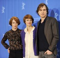 Birgit Minichmayr, director Maren Ade and Lars Eidinger at the photocall of