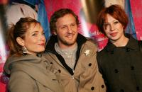 Nadja Uhl, Maximilian Brueckner and Birgit Minichmayr at the premiere of