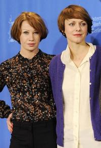 Birgit Minichmayr and director Maren Ade at the photocall of