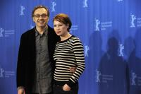 Josef Hader and Birgit Minichmayr at the photocall of