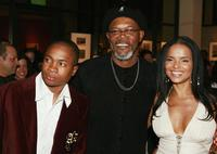 Sam Jones III, Samuel L. Jackson and Victoria Rowell at the after party of the world premiere of