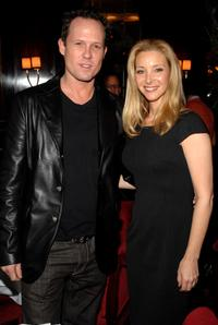 Dean Winters and Lisa Kudrow at the luncheon for