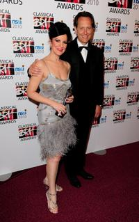 Angela Gheorghiu and Richard E Grant at the Classical BRIT Awards.
