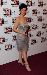 Angela Gheorghiu at the Classical BRIT Awards.