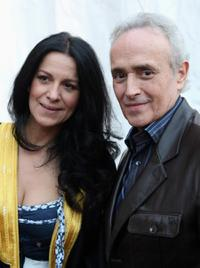 Angela Gheorghiu and Jose Carreras at the Salut Petra: Luciano Pavaotti Memorial Concert.
