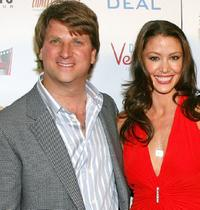 Michael Arata and Shannon Elizabeth at the world premiere of