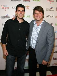 Mark Weinstock and Michael Arata at the world premiere of