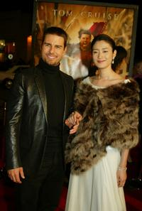 Tom Cruise and Koyuki at the premiere of