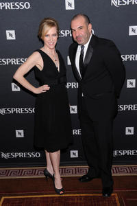Amy Hargreaves and Rick Hoffman at the 39th International Emmy Awards in New York.
