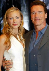 Kristanna Loken and Schwarzenegger at the photocall of