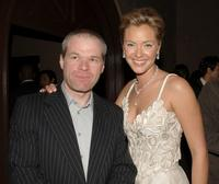 Uwe boll and Kristanna Loken at the after party premiere of