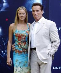 Kristana Loken and Arnold Schwarzenegger at the photocall of
