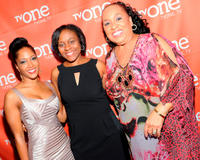 Noree Victoria, Alexus flank Woyna Lucas and Roz Ryan at the premiere of