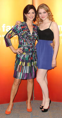 Amy Pietz and Skyler Samuels at the Disney ABC Television Group Host