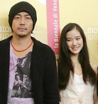 Joe Odagiri and Yu Aoi at the photocall of
