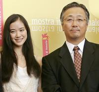 Yu Aoi and director Otomo Katsuhiro at the photocall of