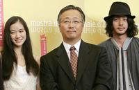 Yu Aoi, director Otomo Katsuhiro and Nao Omori at the photocall of