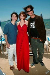 Caio Blat, Maria Luisa Mendonca and Rodrigo Santoro at the press luncheon