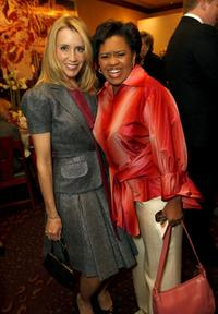 Felicity Huffman and Chandra Wilson at the holiday party hosted by Jenny Jones with a special fashion show.