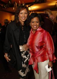 Vanessa Williams and Chandra Wilson at the holiday party hosted by Jenny Jones with a special fashion show.