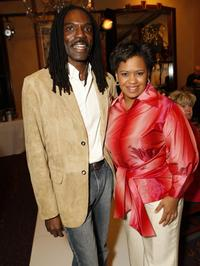 Kevan Hall and Chandra Wilson at the holiday party hosted by Jenny Jones with a special fashion show.