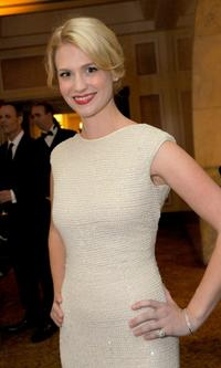 January Jones at the 10th Annual Costume Designers Guild Awards VIP reception.