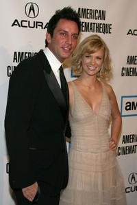 January Jones and guest at the 22nd Annual American Cinematheque Award presentation.