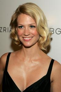 January Jones at the BCBG Max Azria Spring 2007 fashion show during Olympus Fashion Week.